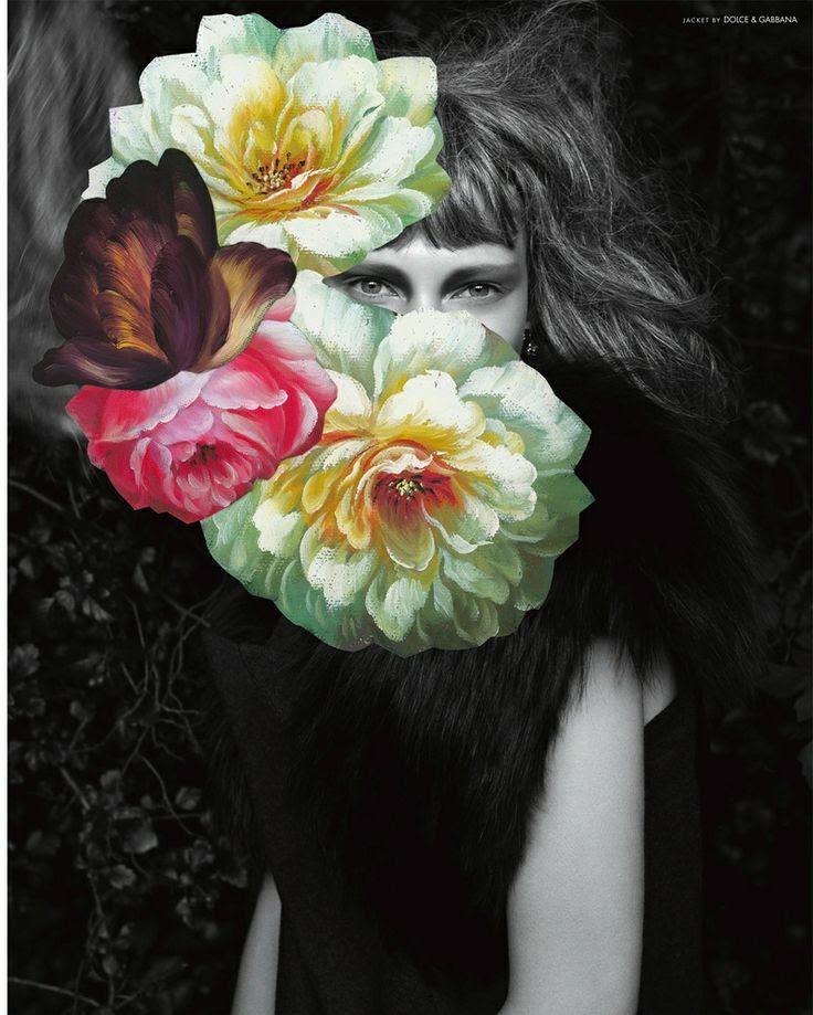 Photographer Andreas Larsson, Floral arrangement Jim Lambie for 10 Fall 2011