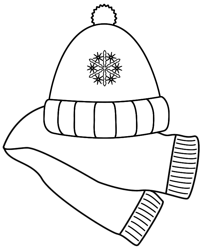 Coloring Pages Winter Clothes Preschool Mitten Winter Coloring Pages Printable Winter Hat