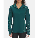 EMS Women's Techwick Dual Thermo II Half Zip Pullover - Green