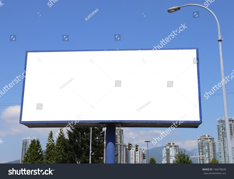Blank Billboard City View Background Stock Photo 146678630 ...