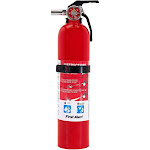 First Alert Multipurpose Rechargeable Home Fire Extinguisher, Red, 2.5 lb
