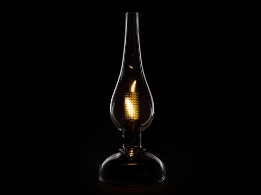'Midnight Oil' and 'Eternal Flame' LEDs Capture the Flicker of Real Candlelight - Design Milk