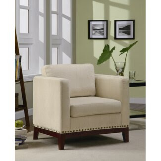 Wildon Home Augusto Accent Chair in Walnut