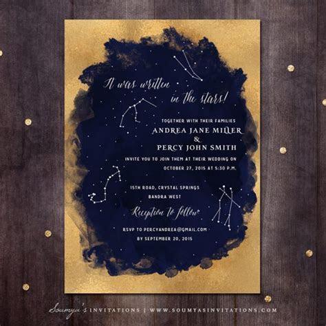Starry Night / Celestial « Wedding Invitations   Soumya's