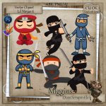 CU VectorStyle Lil Ninjas Series Clipart 6