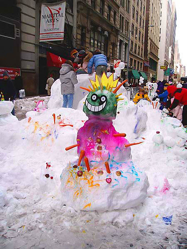 Snowman, NYC style
