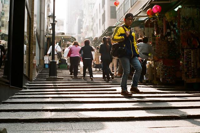 Pottinger Street in Hong Kong
