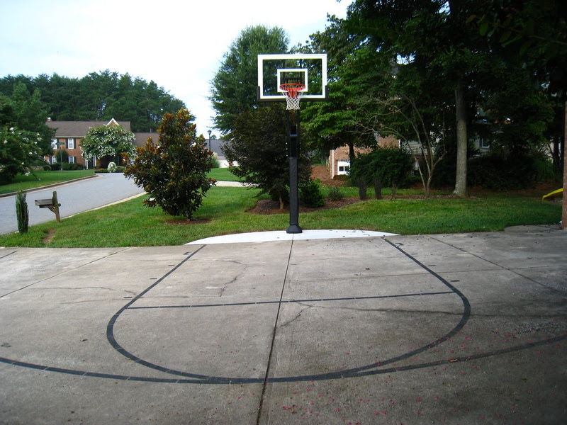 There Is His Pro Dunk Silver Basketball System And His Striped