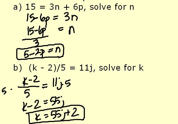 Algebra Lesson 28 St Johns Math