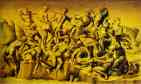 Aristotile da Sangallo. The Battle of Cascina, copy after Michelangelo, central section of the cartoon.