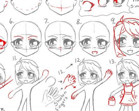 chibi style anime drawing tutorials ninja crunch