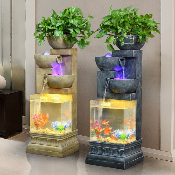 European Style Water Fountain Creative Home Living Room Rockery Atomization Humidification Fish Tank Home Decorations Thefashionique Shop Women Men Stylish Trending Clothing Shoes Online