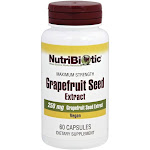 Nutribiotic Maximum Strength Grapefruit Seed Extract 250 mg. 60 Capsules