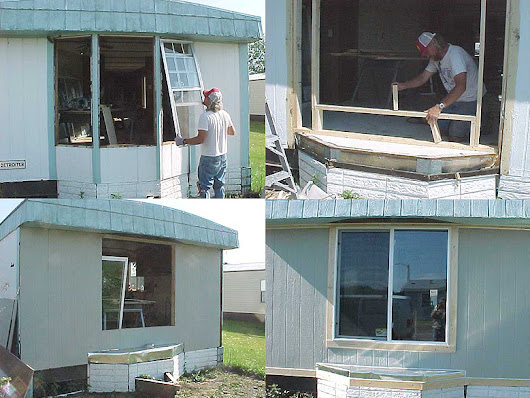 How to Replace a Leaky/Rotten Bay Window - Mobile Home Repair