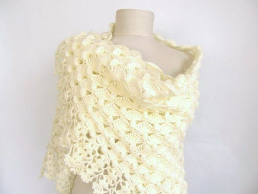 Wedding Shawl / Bride Shawl / Bridal Shawl / Shrug / by ScarfsSale