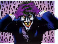 The Joker emerges from chemical-ridden water a...