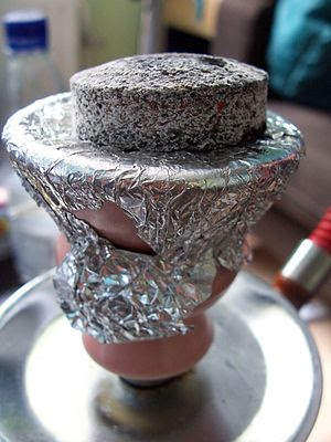 Coal on a Hookah.
