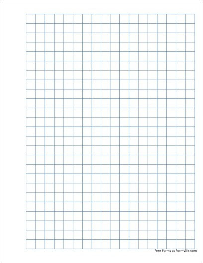Free Punchable Graph Paper (1 Centimeter Solid Blue) from Formville
