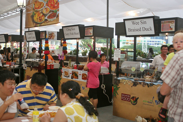 There are up to 60 stalls offering local and international bites
