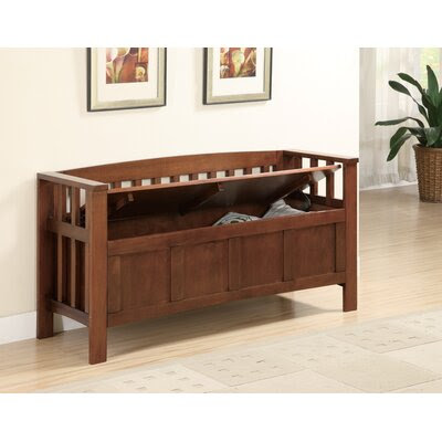 Elegant Home Fashions Stanton Wooden Storage Bench | Wayfair