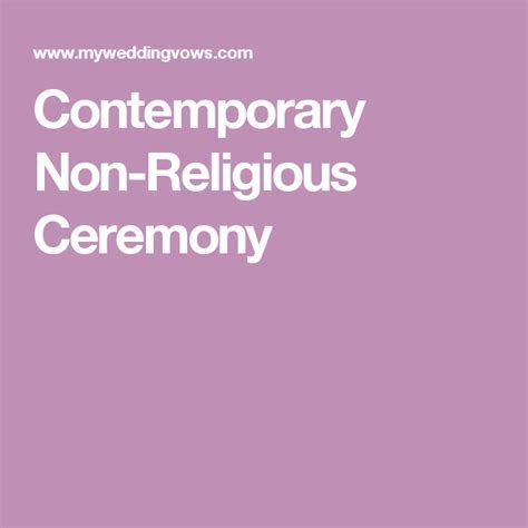 Contemporary Non Religious Ceremony in 2019   Wedding