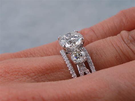 2.30 CTW ROUND BRILLIANT CUT DIAMOND WEDDING RING SET H