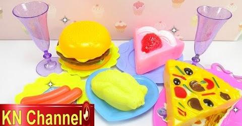 Đồ chơi trẻ em Bé Na làm bếp bánh sinh nhật Mèo Hello Kitty Kitchen cooking playset Childrens toys