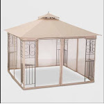 Threshold 153 10 by 10 Foot Gazebo Mosquito Netting Top to Bottom Outdoor Summer Living Space Coverage (New without Tags)