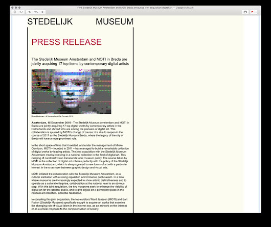 Stedelijk Museum Amsterdam buys A Vernacular of File Formats. The digital archive.