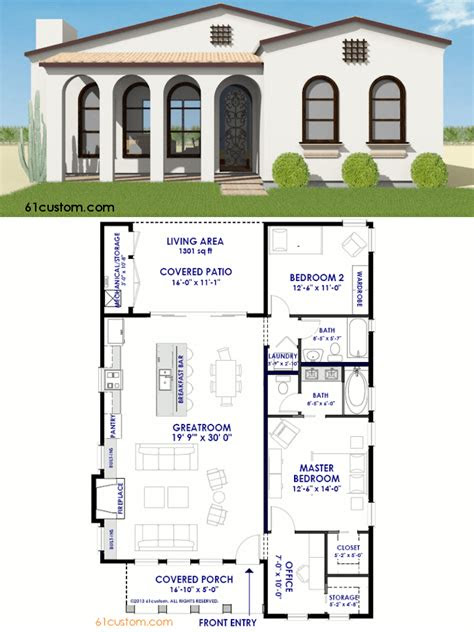 small spanish contemporary house plan custom modern