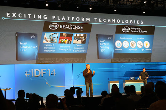 Intel's Krzanich Demos RealSense Interface With Michael Dell At IDF