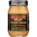 Cream Nut Peanut Butter - Crunchy - Natural - Case Of 6 - 16.5 Oz