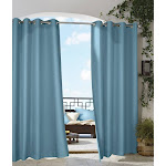 Outdoor Decor Gazebo Grommet Outdoor Curtain Panel, Size: 50x84, Blue