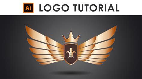 create  golden wings logo illustrator tutorial