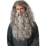 Rubies Costume Men's The Hobbit Gandalf Beard Kit, Gray, One Size