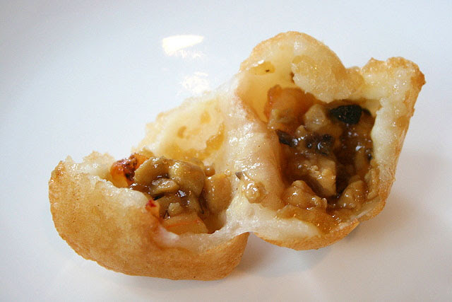 Deep Fried Glutinous Rice Dumpling with Pork and Shrimps