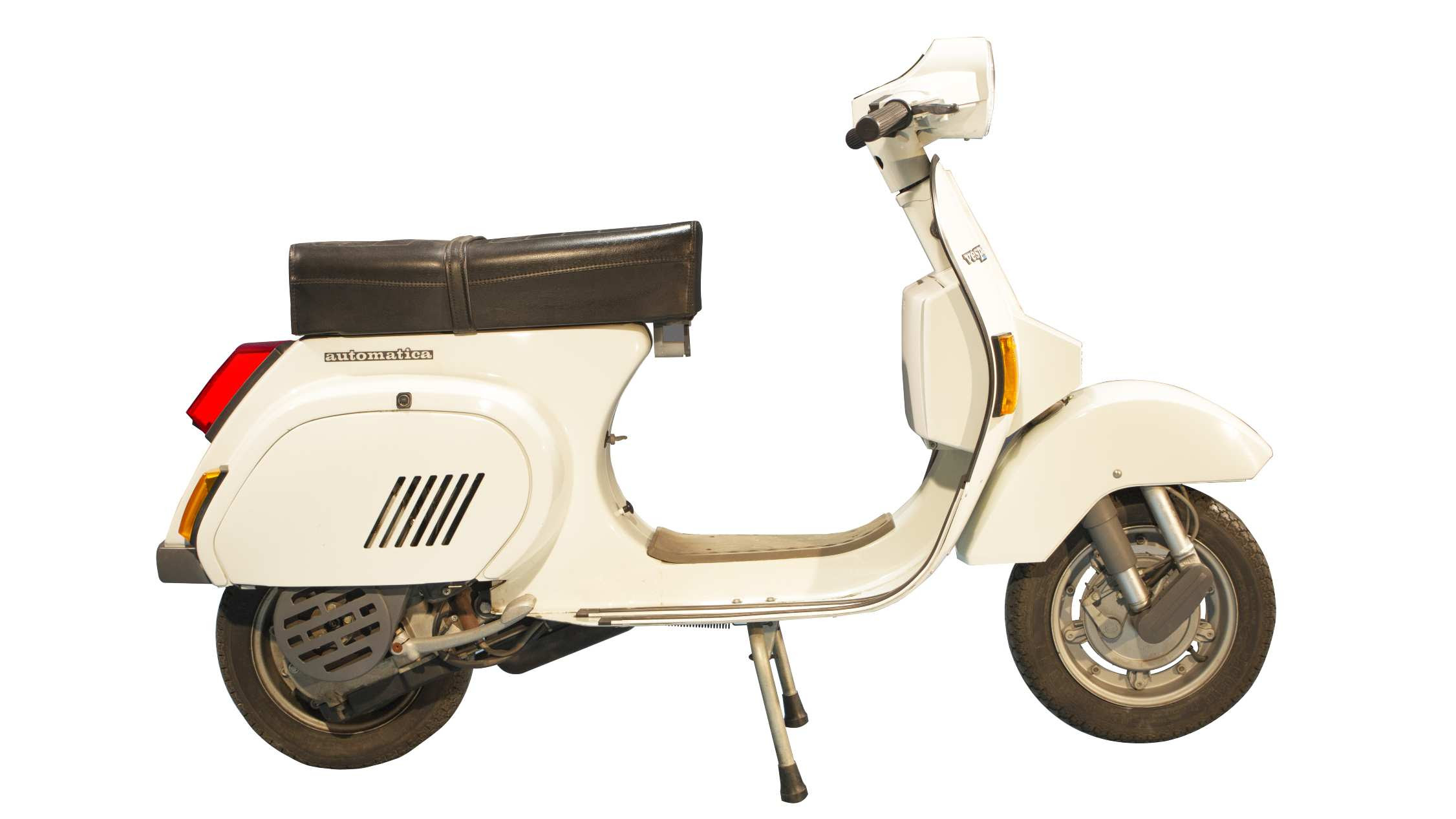 The Vespa 125 PK was the first Vespa with an automatic transmission and electric start. Image: Piaggio