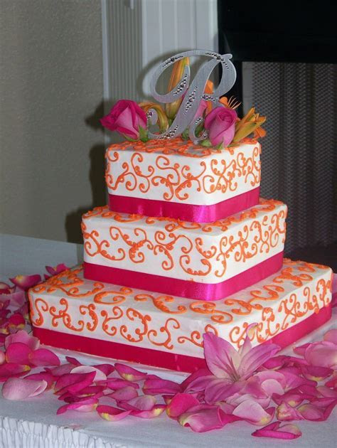 Pin by T Johnson on wedding cakes   Orange wedding flowers