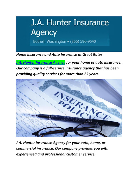 J.A. Hunter Insurance Agency : Auto, Home & Car Insurance in Bothell, WA