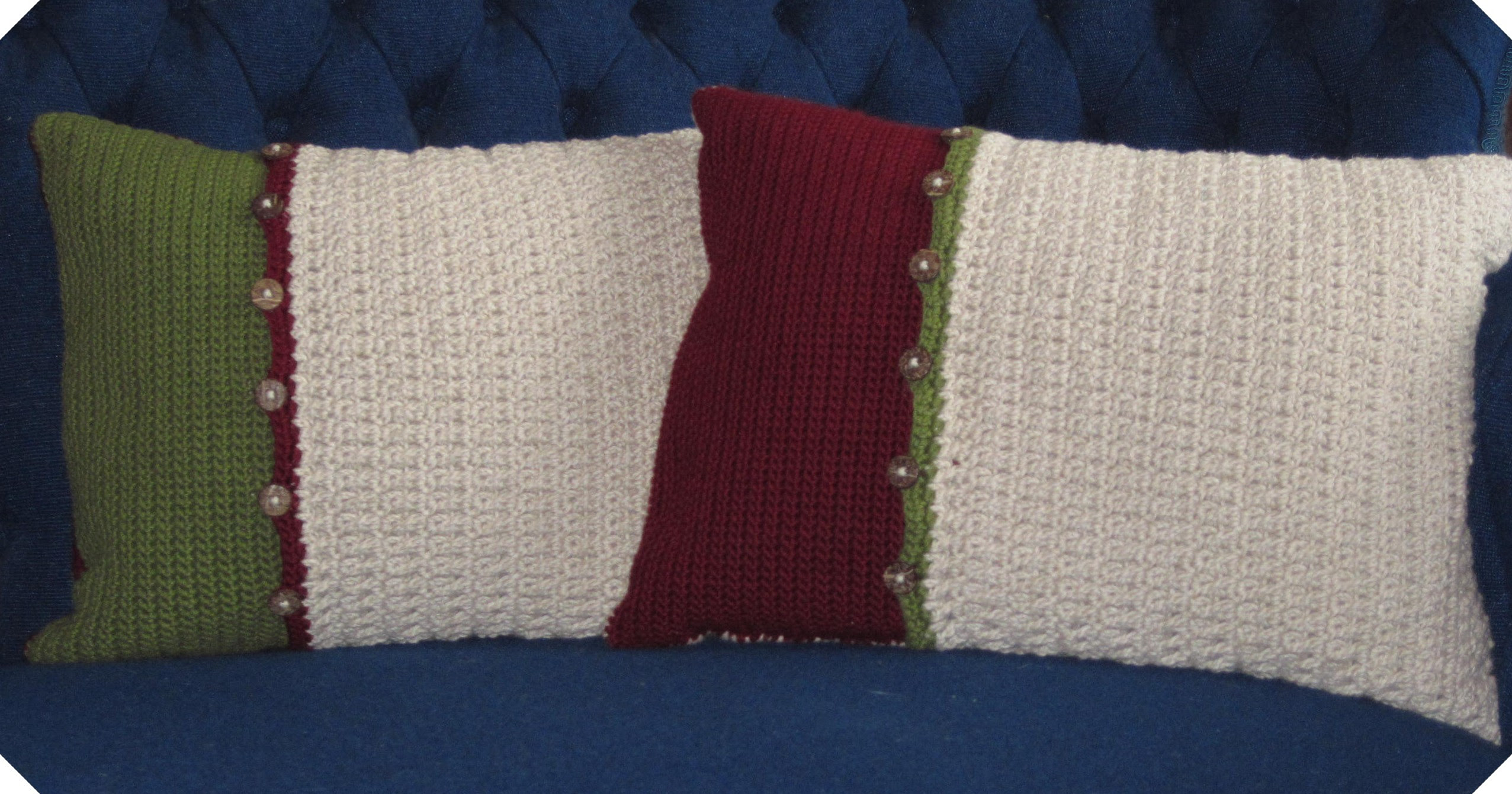 Sweater Back Crochet Pillows | Flickr - Photo Sharing!