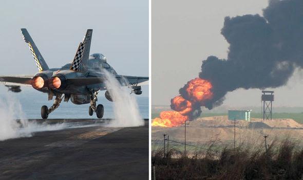 Hình ảnh Mỹ đưa tàu sân bay hạt nhân đến Trung Đông quét sạch IS số 4