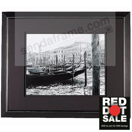 Matte Black Aluminum Venice Matted Frame 16x2011x14 From Artcare