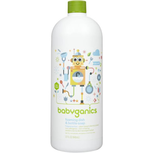 BabyGanics Dish Dazzler Foaming Dish & Bottle Soap Refill, Fragrance Free - 32 oz bottle