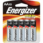 Energizer Max E91CP-10 Battery - AA - Alkaline