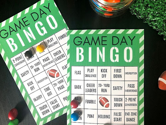 Fun Game Day Party Ideas: Free Printable Football Bingo Cards {Set of 4!}
