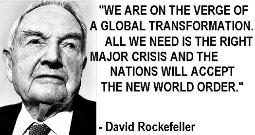 Image result for david rockefeller new world order