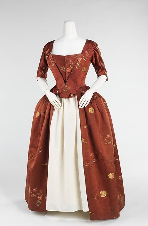 Robe à l'Anglaise 1740-1760 The Metropolitan Museum of Art