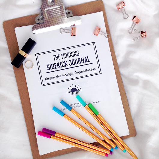 Creating habits with the Morning Sidekick Journal - Yellow Feather
