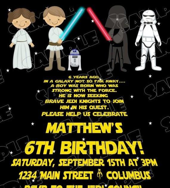 Star Wars Birthday Invitation Templates