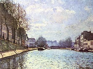 View of the Canal Saint-Martin at Paris (Alfre...